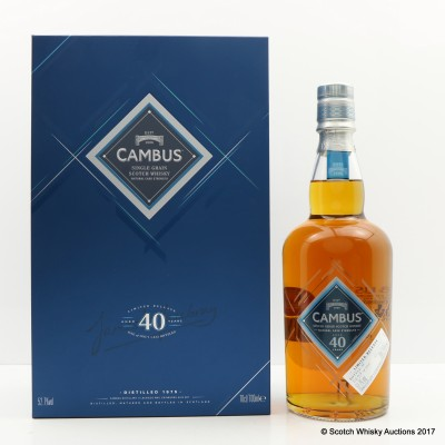 Cambus 1975 40 Year Old 2016 Release