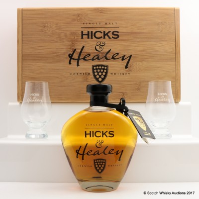 Hicks & Healey Cornish Whisky In Presentation Box With Glasses 50cl