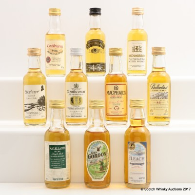 Assorted Minis 10 x 5cl Including Glen Gordon 8 Year Old