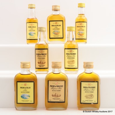 Assorted Gordon & MacPhail Minis 8 x 5cl including Pride of Islay