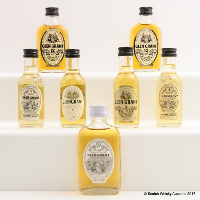 Assorted Glen Grant Minis 7 x 5cl Including Glen Grant 12 Year Old