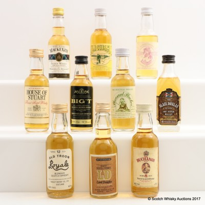 Assorted Minis 10 x 5cl Including Lord Douglas