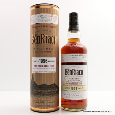 BenRiach 1996 18 Year Old Single Cask #3607