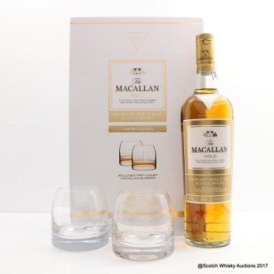 Macallan Gold & 2 x Glasses Gift Set
