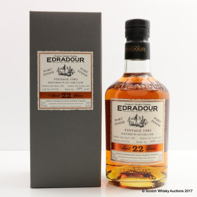 Edradour 1983 22 Year Old Port Finish