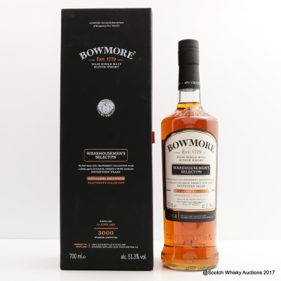 Bowmore 1999 17 Year Old Warehousemen's Selection