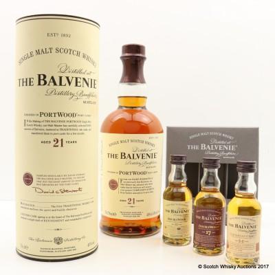 Balvenie 21 Year Old PortWood & Balvenie Tasting Collection Minis 3 x 5cl