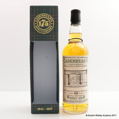 Cooley 1992 25 Year Old For Cadenhead's Shop Campbeltown