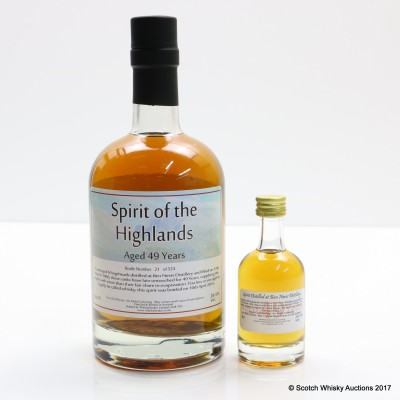 Ben Nevis 1966 49 Year Old Whisky Broker 50cl & Matching Mini 5cl