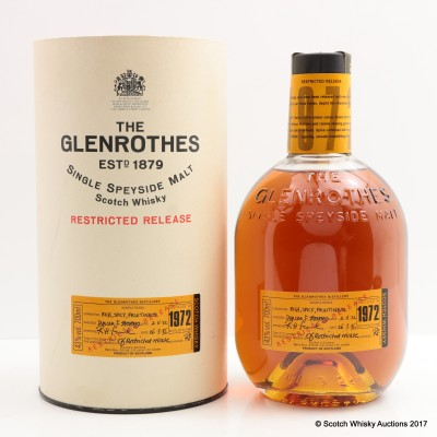 Glenrothes 1972 Restricted Reserve