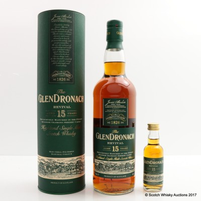 GlenDronach 15 Year Old Revival & Matching Mini 5cl