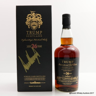 GlenDronach 26 Year Old Trump International Golf Links Signed By Donald Trump
