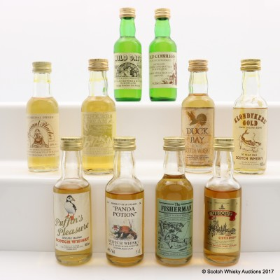 Assorted Minis 10 x 5cl Including Duck Bay Blended Scotch Whisky Mini 5cl