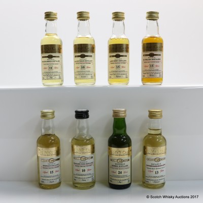 Assorted Old Malt Cask Minis 8 x 5cl Including Ardbeg 24 Year Old