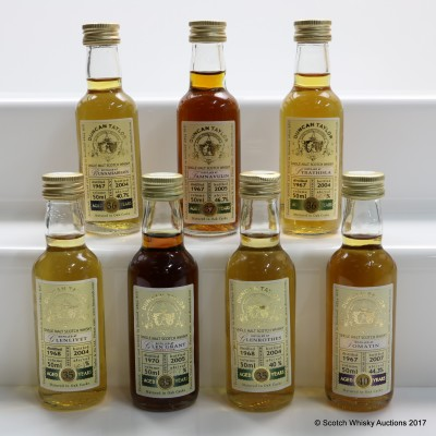 Assorted Duncan Taylor Minis 7 x 5cl Including Tomatin 1967 40 Year Old