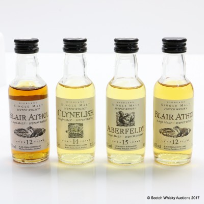 Assorted Flora & Fauna Minis 4 x 5cl Including Clynelish 14 Year Old