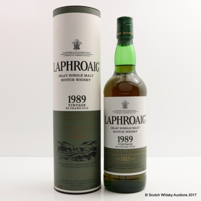 Laphroaig 1989 23 Year Old Vintage