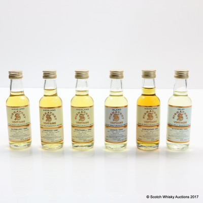 Assorted Signatory Minis 6 x 5cl Including Linkwood 1990 18 Year Old