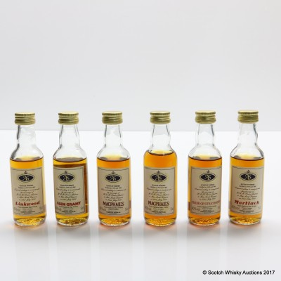 Assorted Gordon & MacPhail Royal Marriage Minis 6 x 5cl Including Linkwood 1959