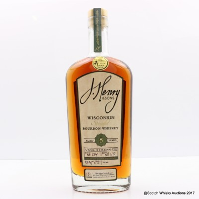 J.Henry & Sons 5 Year Old Wisconsin Straight Bourbon 75cl