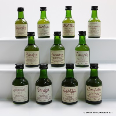 Assorted Whisky Connoisseur Minis 11 x 5cl Including Largiemeanoch 1972 22 Year Old