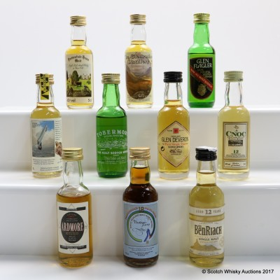 Assorted Minis 10 x 5cl Including Ardmore 1977