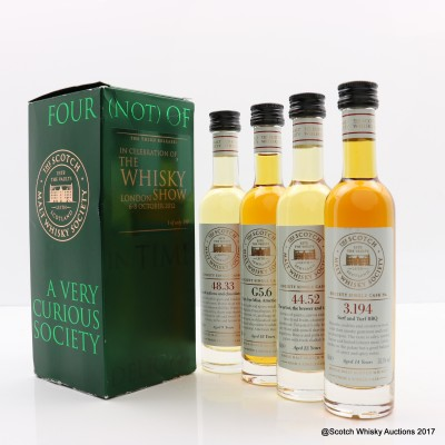 SMWS Four (Not) Of A Kind In Celebration Of The Whisky Show 2012 4 x 10cl