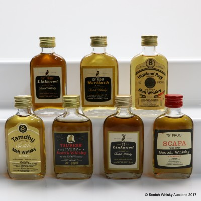 Assorted Gordon & MacPhail Minis x 7 Including Linkwood 25 Year Old