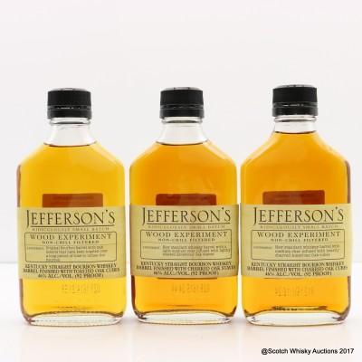 Jefferson's Wood Experiment #4, #6 & #12 3 x 20cl