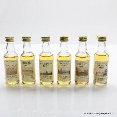 Assorted Whisky Shop Minis 6 x 5cl Including Stirling Mist