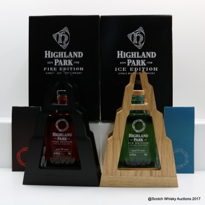 Highland Park 15 Year Old Fire Edition & Highland Park 17 Year Old Ice Edition