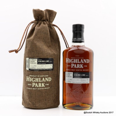 Highland Park 2002 14 Year Old Viking Line Single Cask #3429