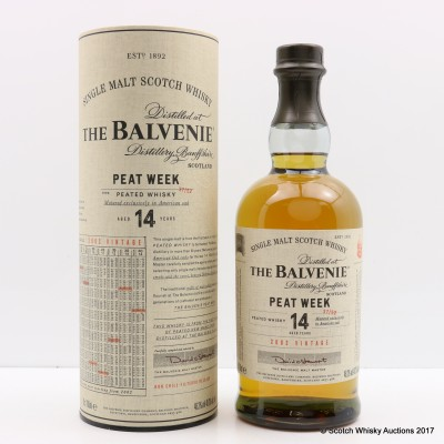 Balvenie 2002 14 Year Old Peat Week