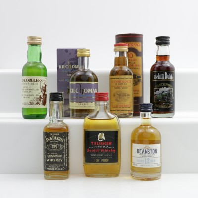Assorted Minis 7 x 5cl Including Deanston 12 Year Old Mini 5cl