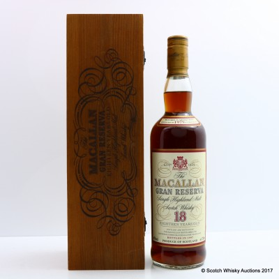 Macallan 1979 18 Year Old Gran Reserva