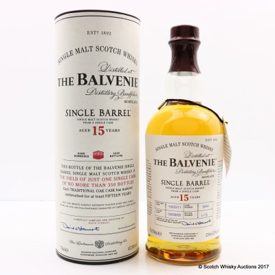 Balvenie 1995 15 Year Old Single Barrel