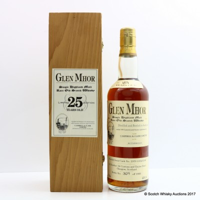 Glen Mhor 1970 25 Year Old