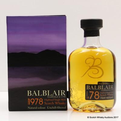 Balblair 1978 1st Edition
