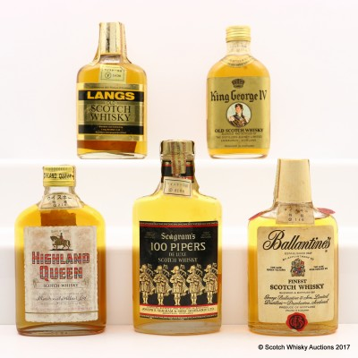 Assorted Blends 5 x 19cl including King George IV
