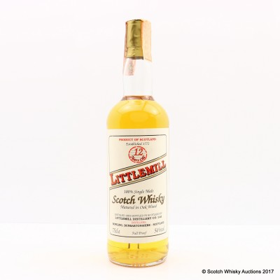 Littlemill 12 Year Old Full Proof 75cl