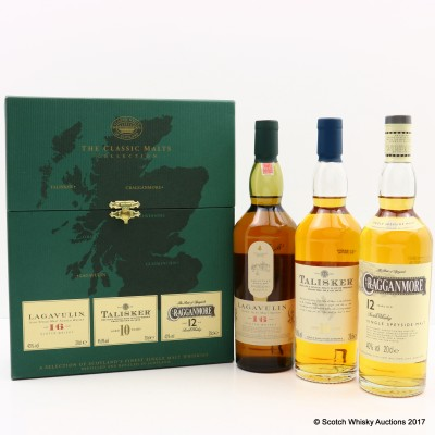Classic Malts Journey Of Discovery Collection 3 x 20cl