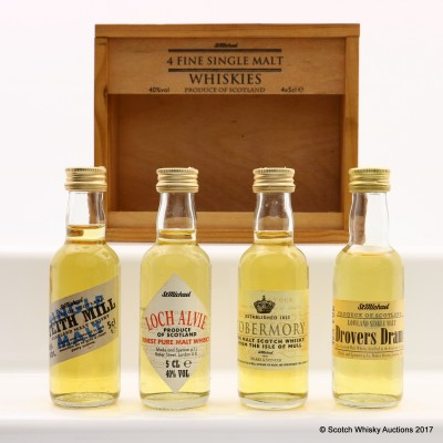 Assorted St Michael Minis In Box 4 x 5cl Including Tobermory