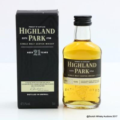 Highland Park 21 Year Old Mini 5cl
