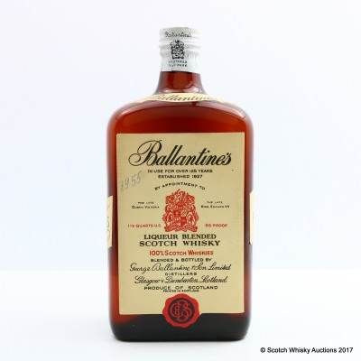 Ballantine's Liqueur Blended Scotch 1 1/5 Quarts U.S.