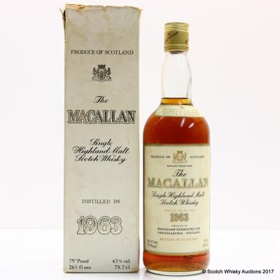 Macallan 1963 26 2/3 Fl Ozs