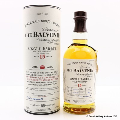 Balvenie 1998 15 Year Old Single Barrel