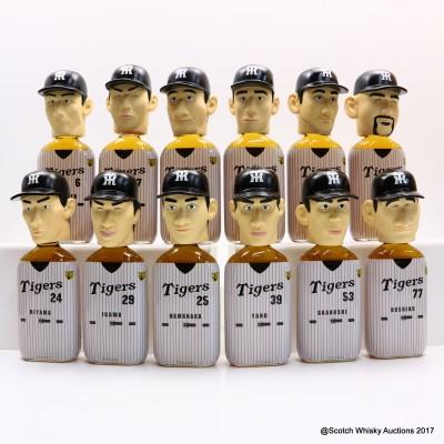 Hanshin Tigers Baseball Team Whisky Head 2003 Full Set 12 x 36cl