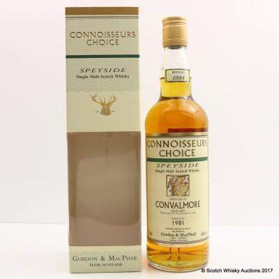Convalmore 1981 Connoisseurs Choice