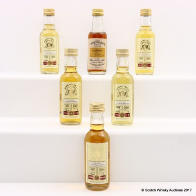 Assorted Grain Whisky Minis 6 x 5cl  Including Invergordon 1965 38 Year Old