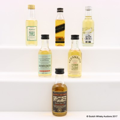 Assorted Minis 6 x 5cl Including Longmorn 15 Year Old